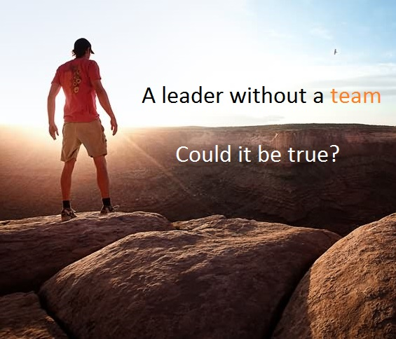 A leader without a team